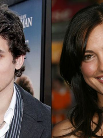 """Mayer reportedly dated Minka Kelly in 2007, <a href=""""http://www.justjared.com/2007/10/01/minka-kelly-john-mayer/all-comments/"""" target=""""_blank"""" target=""""_blank"""">as the two were seen strolling hand in hand</a>. The actress has since been romantically linked to Derek Jeter and Wilmer Valderrama."""