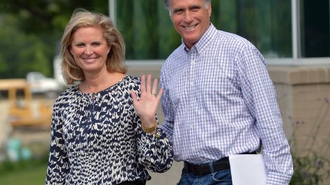 US Republican presidential candidate Mitt Romney and his wife leave the Brewster Academy in Wolfeboro, New Hampshire, on August 27, 2012 afte working on his speech for the Republican National Convention (RNC). Tropical Storm Isaac threatened Monday to steal the media spotlight from Republican presidential hopeful Mitt Romney and overshadow the all-important convention that will crown him the nominee