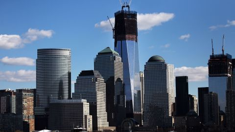 Donna Brazile says union-trained military veterans are helping to rebuild New York's World Trade Center complex.