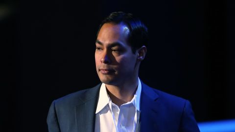 CHARLOTTE, NC - SEPTEMBER 02: San Antonio Mayor Julian Castro stands on stage during preparations for the Democratic National Convention at Time Warner Cable Arena on September 2, 2012 in Charlotte, North Carolina. The DNC that will start on September 4 and run through September 7, will nominate U.S. President Barack Obama as the Democratic presidential candidate. (Photo by Streeter Lecka/Getty Images)