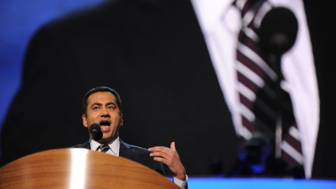 """Kal Penn, actor and former associate director in the White House Office of Public Engagement, on Tuesday took a shot at Clint Eastwood's """"invisible chair"""" improv -- from the Republican National Convention last week -- during his address to the DNC."""