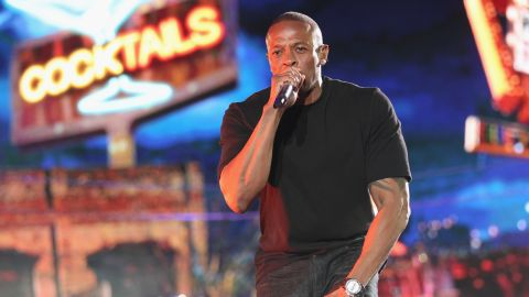 Rapper Dr. Dre performs onstage at the 2012 Coachella Valley Music & Arts Festival. His Beats line have helped make him one of the world's richest entertainers.