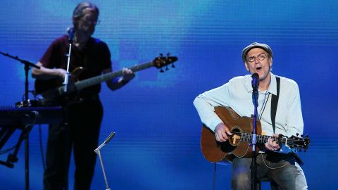 """Singer/songwriter James Taylor performed several of his hit songs, including """"Carolina in my Mind,"""" and """"How Sweet it is"""" Thursday."""
