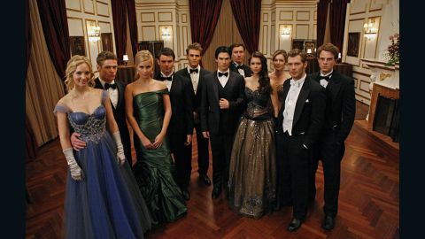 """The characters on """"The Vampire Diaries"""" got all dolled up to attend a ball at vampire Klaus' (Joseph Morgan) house last season."""