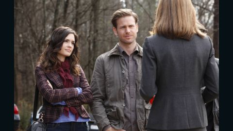 """Dr. Meredith Fell (Torrey DeVitto) and Alaric Saltzman (Matthew Davis) are two of the few adults on the series. Despite developing split personalities last season, Alaric's """"wardrobe stayed pretty much the same,"""" Leverett said. Meanwhile, she said, Meredith is """"a no-nonsense kind of gal and we like to keep her wardrobe simple but pretty."""""""