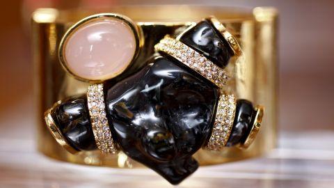 Jewelry and handbag designer Kara Ross displays her spring pieces, including this cuff.