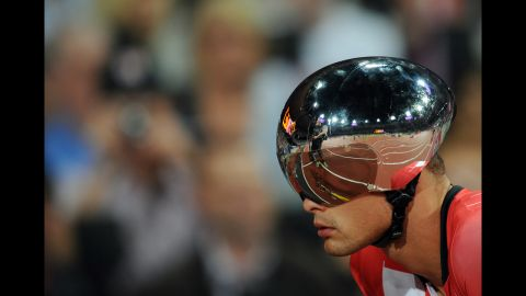 Switzerland's Marcel Hug competes in the men's 400m - T54 final on Friday.
