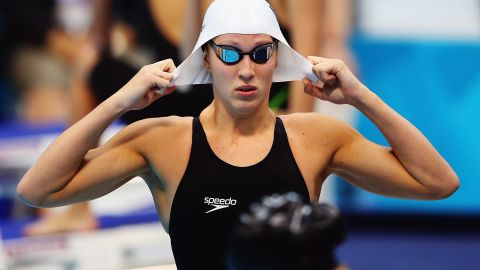 Sophie Pascoe of New Zealand prepares to compete Saturday in the women's 100-meter breaststroke SB9 final.