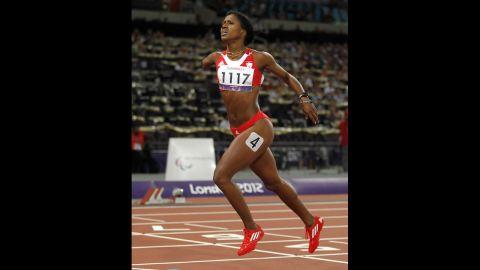 Cuba's Yunidis Castillo wins gold in the women's 400-meter T46 on Saturday.