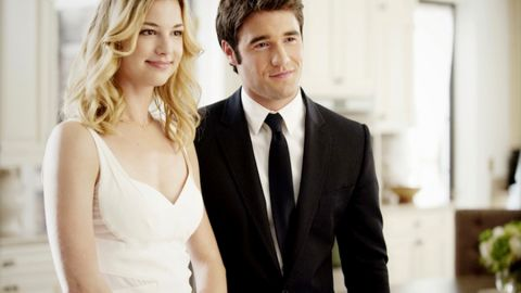 """It's not exactly smooth sailing for Emily and Daniel on ABC's """"Revenge,"""" but the actors who play them, Emily VanCamp and Josh Bowman, <a href=""""http://www.usmagazine.com/celebrity-news/news/emily-vancamp-dating-revenge-costar-josh-bowman-201473"""" target=""""_blank"""" target=""""_blank"""">get along just fine off-screen</a>."""