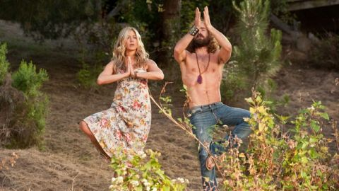 """""""Wanderlust"""" co-stars Jennifer Aniston and Justin Theroux went public with their relationship in 2011, and announced their <a href=""""http://www.cnn.com/2012/08/12/showbiz/aniston-engaged/index.html"""" target=""""_blank"""">engagement </a>the next year."""