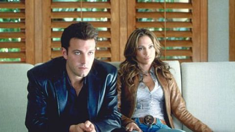 """Jennifer Lopez and Ben Affleck, or should we say """"Bennifer,"""" starred together in """"Gigli."""" The 2003 film flopped at the box office, earning just over $3 million its opening weekend. The couple became engaged, but split in 2004. Affleck began dating his """"Daredevil"""" co-star, Jennifer Garner, soon after. The couple married in 2005 and have three children together."""