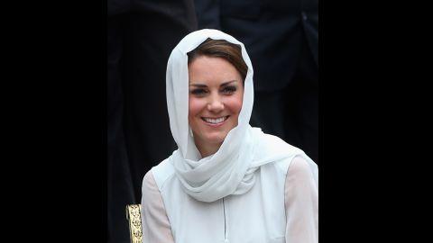 Catherine, Duchess of Cambridge visits Assyakirin Mosque on Friday.