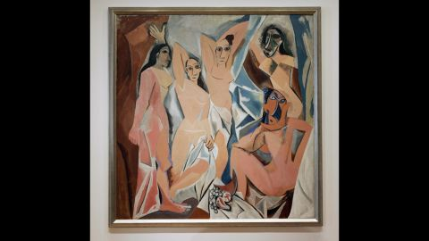"""Pablo Picasso's """"Les Demoiselles d'Avignon"""" from 1907 may be especially pleasing to the eye because it exaggerates human forms, showing influences of the cubism movement."""