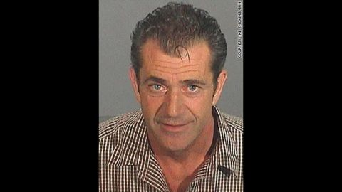 This mug shot was snapped after Mel Gibson, now notorious for getting himself into trouble, was arrested and charged with drunken driving in 2006.