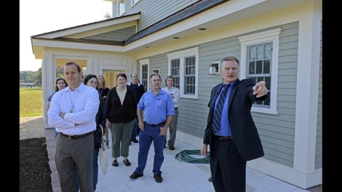 Fanney leads a tour of the Net-Zero Energy Residential Test Facility.