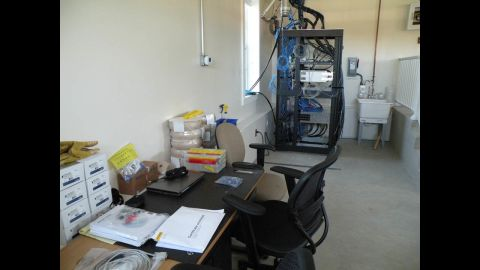 Scientists will use the testing equipment in the garage to monitor conditions in the home.