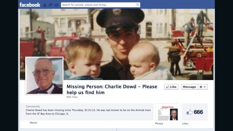 A Facebook page has been set up for retired San Francisco firefighter Charlie Dowd, who went missing last week.