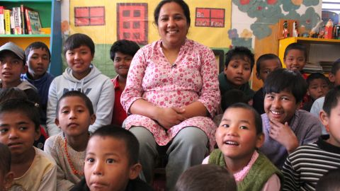 """Pushpa Basnet was shocked to learn that children in Nepal were living in prisons with their parents. In 2005, she started a children's center that has provided housing, education and medical care to more than 140 children of incarcerated parents. """"I always had a dream to build our own home for these children, and I want to rescue more children who are still in prisons,"""" Basnet said. See more photos of Pushpa Basnet, who was voted CNN Hero of the Year for 2012."""
