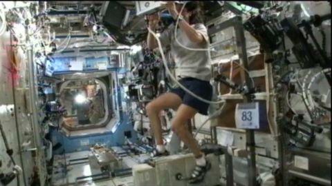 Expedition 33 Commander Sunita Williams competes in the Malibu triathlon from Space