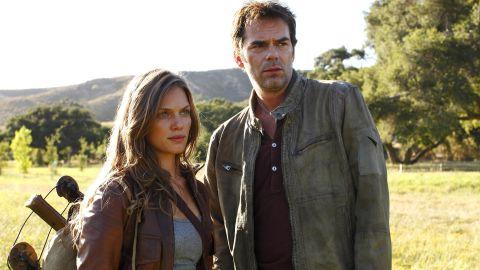"Tracy Spiridakos and Billy Burke star in ""Revolution."""