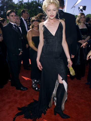 """""""Ally McBeal"""" actress Portia de Rossi has stepped up her style since the Emmys in 1999."""