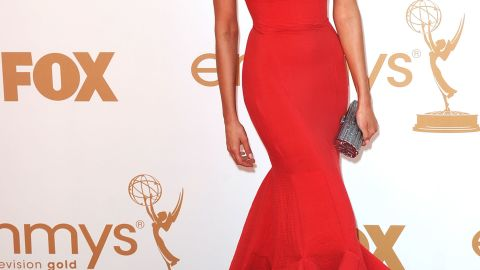 """""""The Vampire Diaries"""" Nina Dobrev is another actress who stunned in red at the 2011 Emmy Awards."""