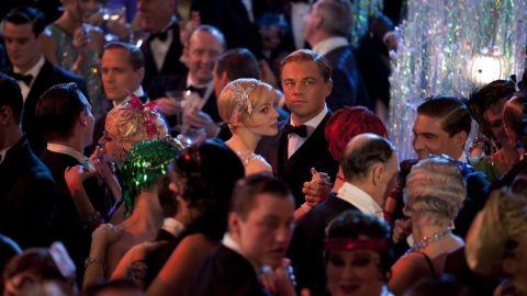 "Carey Mulligan stars as Daisy Buchanan and Leonardo DiCaprio stars as Jay Gatsby in ""The Great Gatsby."""