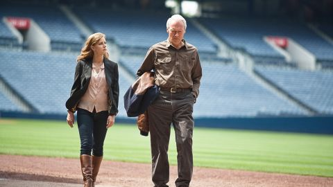 """Amy Adams and Clint Eastwood team up as daughter and father in """"Trouble With the Curve,"""" a sentimental baseball film."""