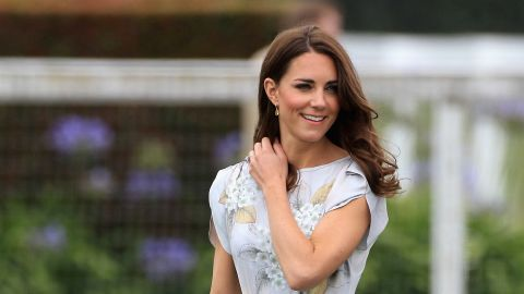 Catherine, Duchess of Cambridge arrives at the Santa Barbara Polo and Racquet Club on July 9, 2011 in Santa Barbara, California.