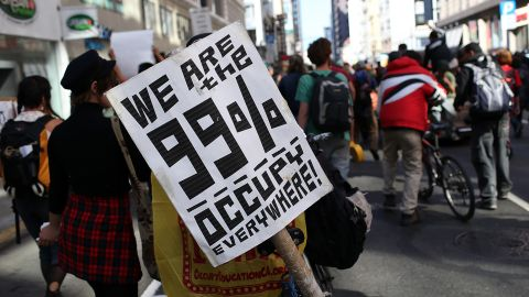 Young activists helped raise awareness of inequality during the Occupy Wall Street protests.