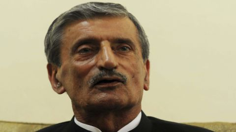 Pakistani Railway Minister Ghulam Ahmad Bilour, pictured in 2011, says he'd give $100,000 to the person who kills the anti-Islam filmmaker.