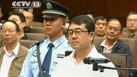 Former police chief Wang Lijun during his trial in Chengdu, in southwest China's Sichuan province, September 18, 2012.