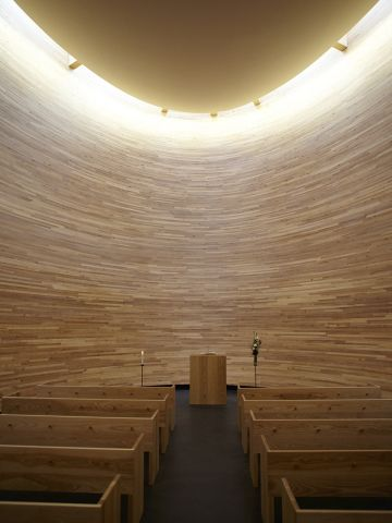 """This <a href=""""http://www.k2s.fi/k2s.html"""" target=""""_blank"""">circular wooden structure</a> is a bold architectural statement in one of the busiest parts of Helsinki."""