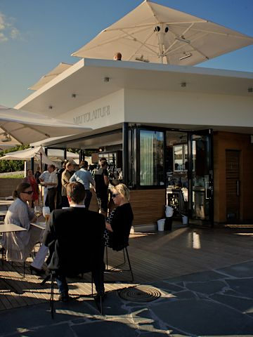 """This <a href=""""http://www.mattolaituri.com/"""" target=""""_blank"""" target=""""_blank"""">cafe</a> has become one of the most popular spots along the seafront for a coffee break and for drinks on warm summer evenings. It opened last year and embodies the innovative attitude of the new city planning department."""