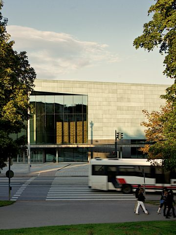 """The new concert venue and music academy sits close to three of Helsinki's architectural monuments -- the neoclassical Parliament House, <a href=""""http://www.finlandiatalo.fi/en/"""" target=""""_blank"""" target=""""_blank"""">Finlandia Hall</a> (designed by Alvar Aalto) and <a href=""""http://www.kiasma.fi/kiasma_en"""" target=""""_blank"""">Kiasma Museum of Contemporary Art</a>."""