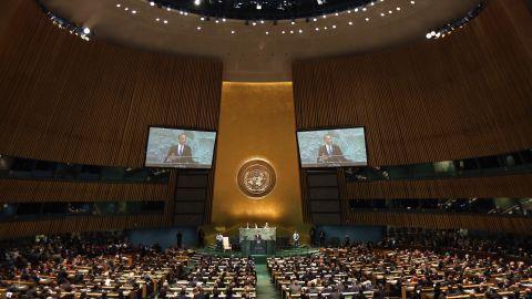 U.S. President Barack Obama addresses the United Nations General Assembly on Tuesday, September 25, in New York.