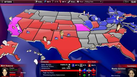 Ever want to manage a presidential campaign? A computer game lets you do just that.