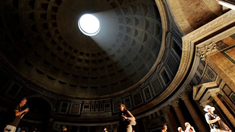 """Archaeo-astronomers have concluded that the Pantheon was designed so that the portico is flooded with light at the equinox. """"That is the beauty of architecture,"""" quips Koolhaas, """"364 days of the year it doesn't work, and it's still wonderful."""""""