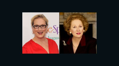 """Meryl Streep won an Oscar for her portrayal of British Prime Minister Margaret Thatcher in 2011's """"The Iron Lady,"""" and so did members of her makeup team. They told <a href=""""http://insidemovies.ew.com/2012/02/24/the-iron-lady-makeup-oscars-behind-the-scenes/"""" target=""""_blank"""" target=""""_blank"""">Entertainment Weekly</a> they pulled it off by working around Streep's natural facial elements."""