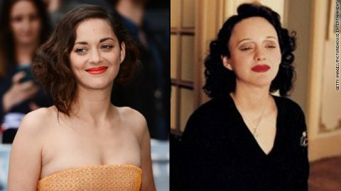 """Critics heaped praise on Marion Cotillard's award-winning portrayal of French chanteuse Edith Piaf in 2007's """"La Vie en Rose."""" The physical part of her transformation took patience, with <a href=""""http://www.usatoday.com/life/movies/movieawards/oscars/2008-02-14-marion-cotillard-main_N.htm"""" target=""""_blank"""" target=""""_blank"""">Cotillard's role demanding</a> five hours in a makeup chair."""