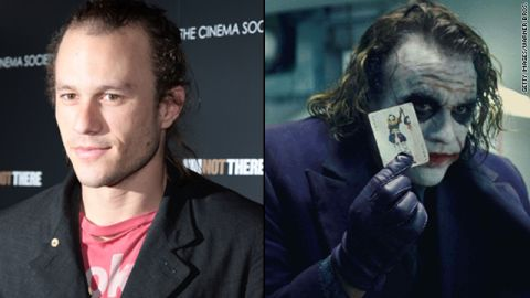 """Heath Ledger's Joker was thrillingly unhinged in 2008's """"The Dark Knight,"""" and the makeup job was part of the package. Both the actor and the makeup team were nominated for Oscars, but it was Ledger who was honored posthumously with the award."""