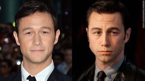 """In """"Looper,"""" Joseph Gordon-Levitt was made up to look more like his co-star, Bruce Willis."""