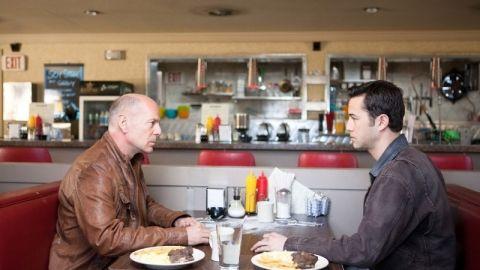"Bruce Willis plays Joseph Gordon-Levitt's future self in  ""Looper."""
