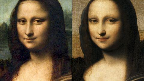 "Did Leonardo da Vinci preface the legendary ""Mona Lisa,"" left, with another version?"