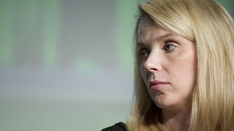 Marissa Mayer, CEO of Yahoo! Inc., listens during a panel at the TechCrunch Disrupt conference in San Francisco on September 12.