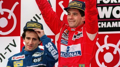 Ayrton Senna and Alain Prost were long-time rivals before they became teammates at McLaren.