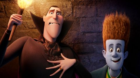"""Dracula and Jonathan from """"Hotel Transylvania"""" helped draw in audiences this weekend."""
