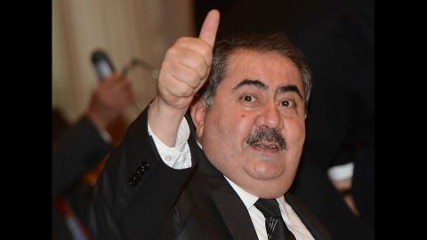 Iraqi Foreign Minister Hoshyar Zebari attends a meeting of the Friends of the Syrian People at the 67th U.N. General Assembly on Friday, September 28.