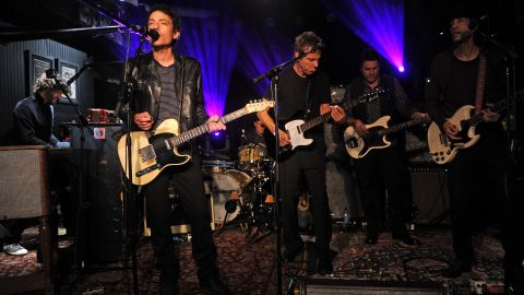 """Jakob Dylan, left, and the Wallflowers are back with a new album, """"Glad All Over."""""""